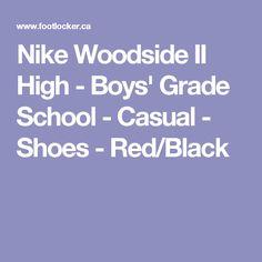 Nike Woodside II High - Boys' Grade School - Casual - Shoes - Red/Black