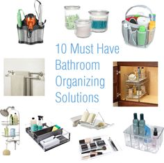 Because if you take the time to clean it out you might as well go for some organized glory =) 10 Must Have Bathroom Organizing Solutions
