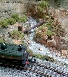 Five steps to creating realistic model railway streams and rivers.