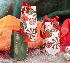 embalagem de presente para o natal com caixa de leite