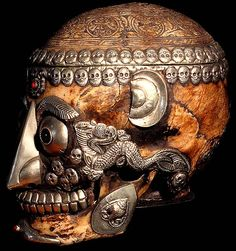 Kapala: Sacred human skulls and skull caps are used in tantric rituals to hold ceremonial offertory liquids.
