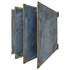 Antique Slate  Bronze Chalkboards