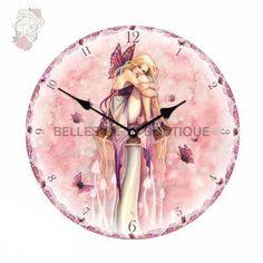 Littlest Fairy Clock, Art by Selina Fenech Clock Art, Clocks, Fairy Glen, Pink Forest, Butterfly Wings, Faeries, Pixie, Gothic, Fantasy