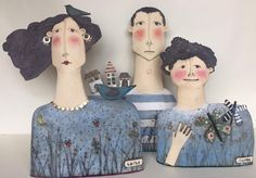 Ceramic Mask, Ceramic Clay, Ceramic Pottery, Pottery Art, Sculptures Céramiques, Sculpture Clay, Clay People, Paper Mache Crafts, Paperclay