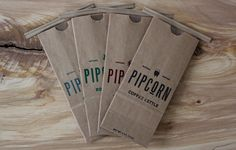 Pipcorn / Packaging designed by Freddy Taylor & Noah Collin.