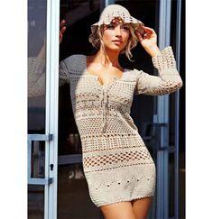 Crochet dress PATTERN crochet beach tunic von OnlyFavoritePATTERNs