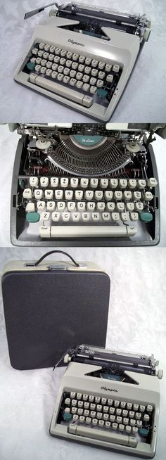 Sold Vintage 1966 Olympia SM9 DeLuxe Manual Typewriter w/ Case Made in Western German