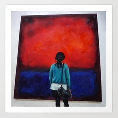 Rothko and I, Art Print by Helena Hsieh