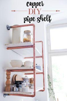 diy copper shelf