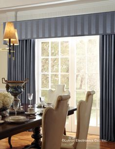 Motorized drapery puts a new spin on a timeless classic. www.lutron.com/fabrics