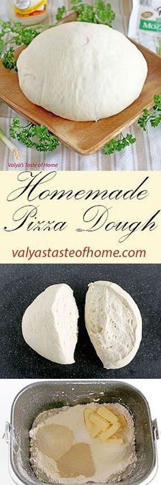 Homemade Pizza Dough http://valyastasteofhome.com/homemade-pizza-dough #homemadepizzadough