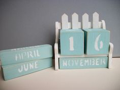 Shabby Chic Park Bench Perpetual Calendar Wood by WoodnDoodads, $9.00