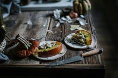 bacon + gruyere + apple + whole grain bread stuffed pumpkin (via Bloglovin.com )