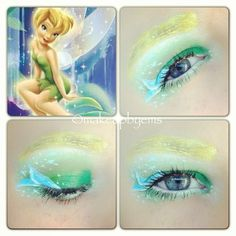 Sammie loves fairies and princesses....tinkerbell Disney makeup look