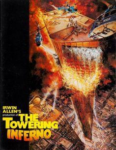 The Towering Inferno (1974) poster art by John Berkey