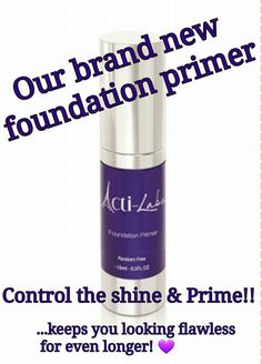 Primer makes our foundation unstoppable! Apply 10-15 minutes before foundation and get a flawless finish! Visit my shop link! https://acti-labs.com/me/angela-hagedorn/