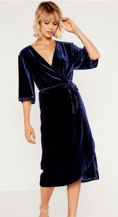 Spoil Mum with this indulgent Velvet Wrap Dress from Glassons for $79.99 - ideal for the cool Autumn evenings!