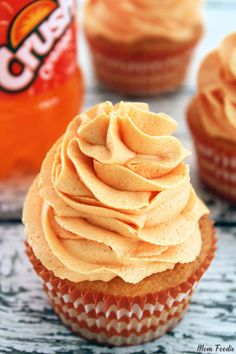 Orange Cupcake Recipe - Both the cupcake and the frosting recipe are orange in color and flavor.