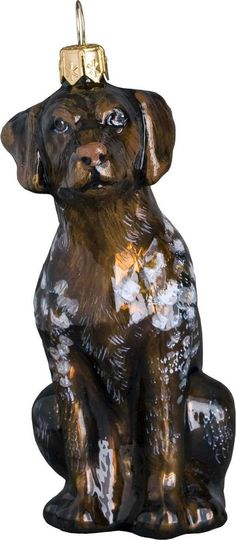 The Pet Set German Shorthair Pointer Glass Christmas Ornament - Handcrafted in Europe by Joy to the World Collectibles