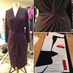 3 different versions of this great pattern! Kimono Twist - First Sample  #PatternMakingClass #Sydney #TwistDrape