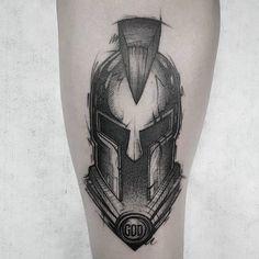 101 Amazing Spartan Tattoo Designs You Need To See! Tatoo Neck, Arm Band Tattoo, Gangsta Tattoos, Badass Tattoos, Warrior Tattoos, Viking Tattoos, Tattoo Design Drawings, Tattoo Designs Men, Spartan Helmet Tattoo