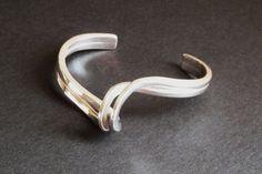Twist and Swirl Silver Cuff Bracelet