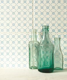 These Floral Trellis tiles in Blue are from the Tapestry tile set. Part of the wider Odyssey range, these tiles are fresh and vibrant, perfectly suited as a splashback in all settings where required. #OriginalStyle #ModenaFliser