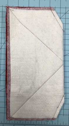 fold sew and trim the corners