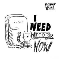 I need food now! #illustration #paperfuel