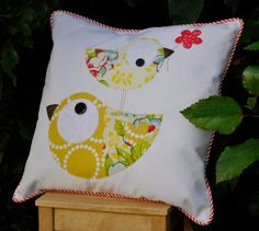 Ali's Cat Applique Cushion PDF pattern by claireturpindesign