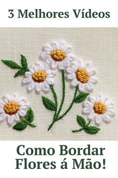 Hand Embroidery Videos, Hand Embroidery Tutorial, Embroidery Flowers Pattern, Crewel Embroidery, Hand Embroidery Designs, Cross Stitch Embroidery, Handkerchief Embroidery, Hawaiian Quilt Patterns, Sewing Patterns