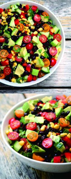 Hydrating Salad - avocado, black bean, cucumber, healthy, recipes, salad, tomato