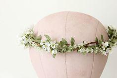 woodland bridal flower crown