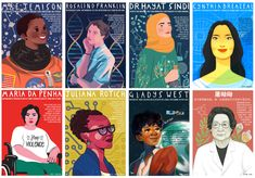 STEM Role Models Posters Celebrate Women Innovators As Illustrated By Women Artists Marie Curie, African American Women, Native American, Women In History, Ancient History, Human Rights, Role Models, Classroom Decor, Science Classroom