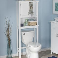"RiverRidge Home Products Somerset 28.38"" x 64"" Free Standing Over The Toilet & Reviews 