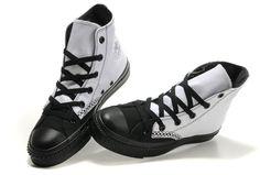 Black & white wing-tip Chucks #converse #chucktaylor #hightops