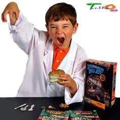 Dinosaur Fossils Science Kit Discover Toys Kids Exploring Dig Up Funny Excited #DiscoverwithDrCool