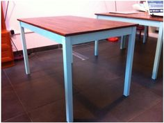 Ikea Ingo dining table - painted & varnished