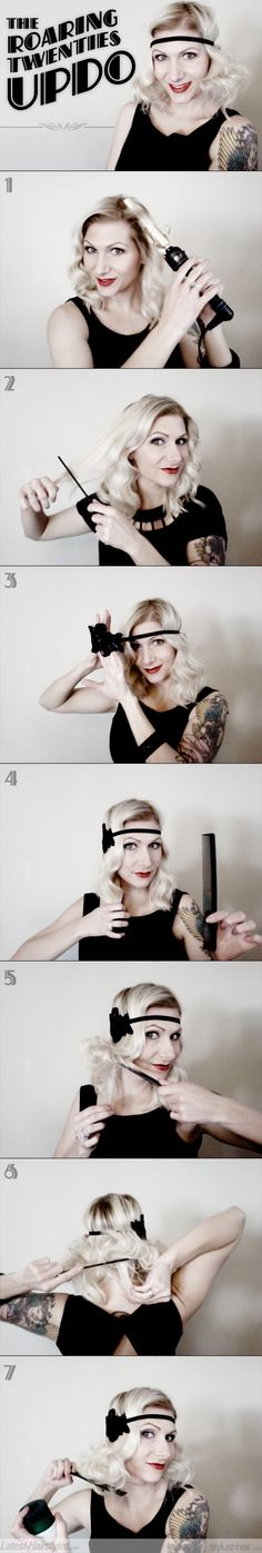 A roaring twenties-inspired hair tutorial? Yes please :)     http://www.latest-hairstyles.com/tutorials/two-easy-vintage-updos.html