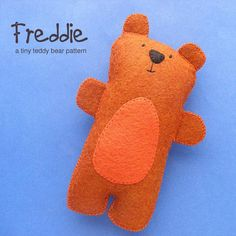Freddie the Tiny Teddy Bear - He's a teddy bear for dolls and teddy bears. :-) Super easy to make.