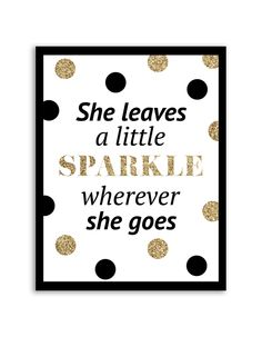 Free Printable She Sprinkles a Little Sparkle Art from - easy wall art diy Simple Wall Art, Diy Wall Art, Easy Wall, Printable Quotes, Printable Wall Art, Sprinkles, Free Printables, Stationery, Iphone