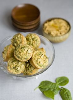 Spinach, carrot and cheese muffins
