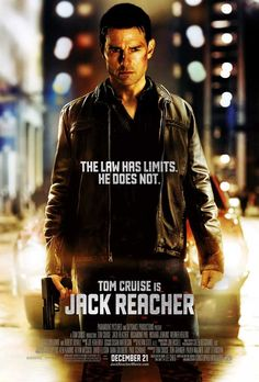 Jack Reacher.  Tom Cruise kicked serious ass in December last year in MI: Ghost Protocol. Let's hope this action flick is anywhere near as good.