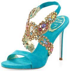 Rene Caovilla Crystal Heels