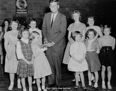1960. Presidential Campaign in Gauley Bridge, West Virginia: Photographs  with Trudy & Sally!