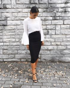 9be39f7f874f 31 Best Black pencil skirt outfit images | Black pencil skirt outfit ...