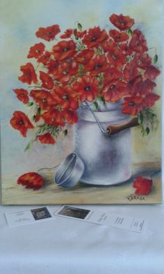 Painting poppies painting, oil on canvas, bouquet, red flowers in the  meadows, figurative art painting, interior decor 428741f8743