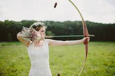 Straight to the heart Katniss - Enchanting Robin Hood Inspired Woodsy Wedding Inspiration