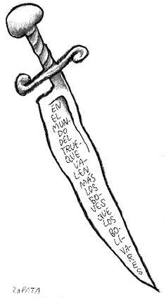 Caricatura de Zapata (PEDRO LEON ZAPATA / ARCHIVO EL NACIONAL) 22 de noviembre de 2006
