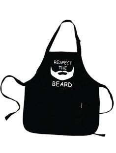 4th of July Respect The Beard Apron Funny Aprons Husband Dad Grandpa Friend Gift One size fits all. ***Great GIFTS***